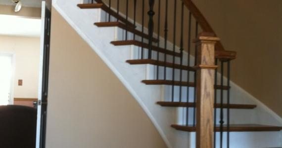 Stairs with Black Metal Spindles