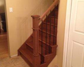 Wood Stairs w/ Metal Spindles
